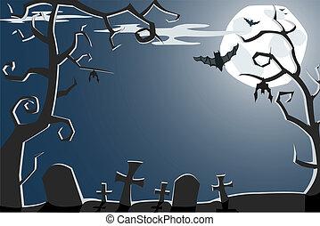 halloween, illustrazione, vettore