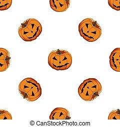 halloween, ilustración, grande, coloreado, tema, patrón