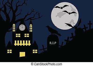halloween, ilustracja
