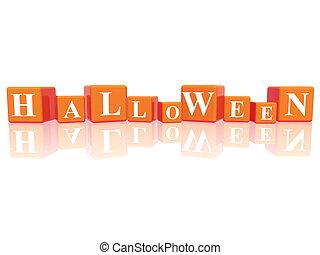 Halloween in 3d cubes