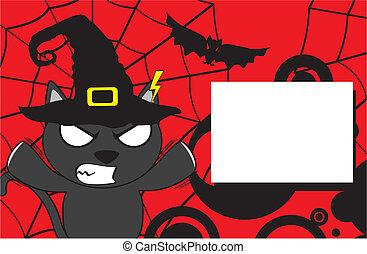 halloween invitation black cat7