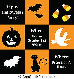 halloween, inviter, heureux