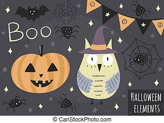 Halloween isolated elements