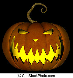 Halloween Jack O Lantern 04 - A illustration of a spooky...