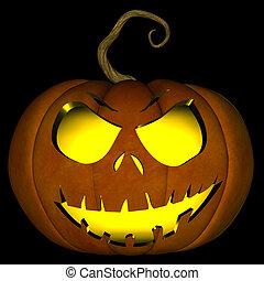 Halloween Jack O Lantern 05 - A illustration of a spooky...