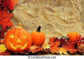 Halloween jack o lantern border