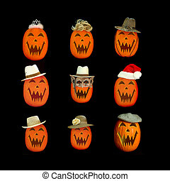 Halloween Jack O Lantern Collage
