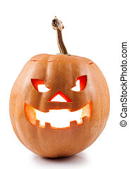 halloween jack-o-lantern on white background
