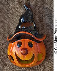Halloween Jack o\' lantern orange pumpking lamp