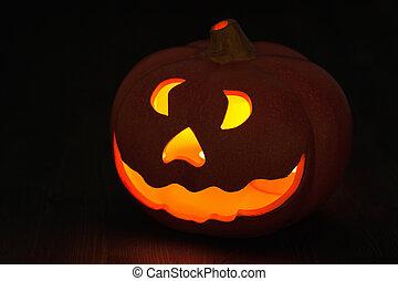 Halloween Jack O Lantern pumpkin decoration