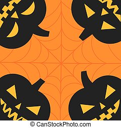Halloween Jack-o'-Lantern pumpkins