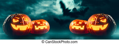 Halloween Jack O' Lantern pumpkins