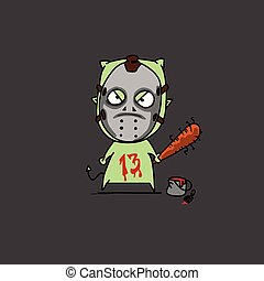 halloween Jason - Hallloween Jason cartoon vector