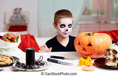 halloween, junge