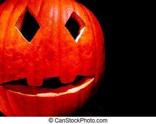 halloween, kürbise, buchse-o-laterne