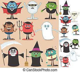 halloween, karakters