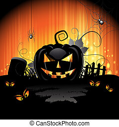 halloween, karte, design