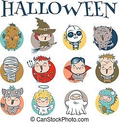 halloween, kinder, kostüme