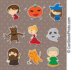halloween, klistermärken