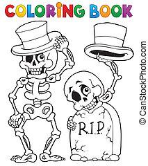 halloween, kolorit, tecken, bok, 6