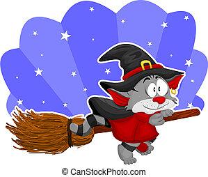 halloween, kot