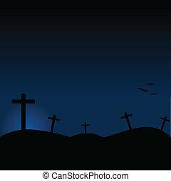 halloween, kyrkogård