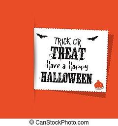 Halloween label background