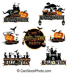 Halloween label set