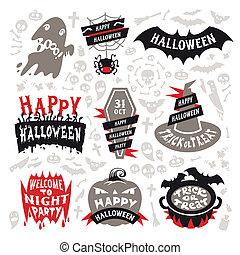 Halloween Labels Set