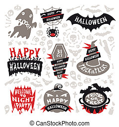 Halloween Labels Set