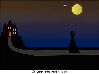 Halloween Landscape House Castle Gothic Views And Vampire