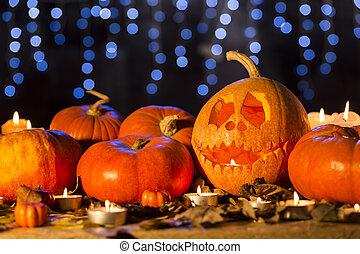 Halloween lanterns and pumkins
