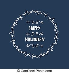 Halloween lettering greeting card