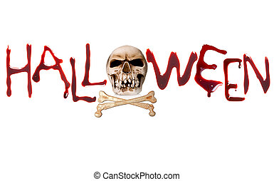 Halloween letters - Bloody letters and a creepy skull for ...