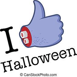 Halloween Like/Thumbs Up symbol