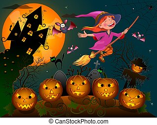 Halloween little witch 1
