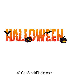 Halloween logo text - vector illustration