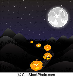 halloween, maan