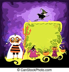halloween magical frame