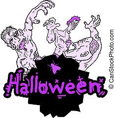 halloween, marionnette