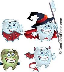 Halloween maskarad teeth