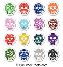 Halloween, Mexican sugar skull, Dia
