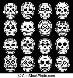Halloween, Mexican sugar skull