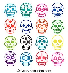 Halloween, Mexican sugar skull