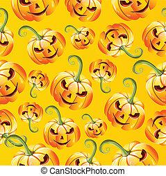 halloween, modèle, pumkins, seamless