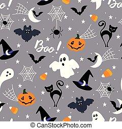 halloween, modello, brutta copia