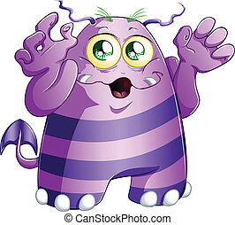 Halloween Monster - A vector illustration of cute scary ...
