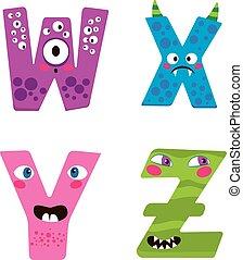 Halloween Monster Alphabet - Cute Halloween alphabet with...