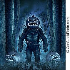halloween, monstre, mal