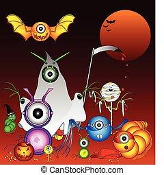 halloween, monstruos
